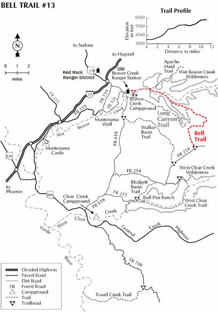 Hike Bell Trail 13 Just East Of Sedona Wet Beaver Creek Wilderness