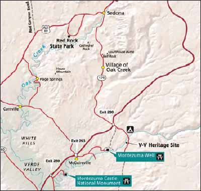 Map Of Arizona Indian Ruins.Montezuma Castle Indian Ruins Near Sedona Directions And Map To