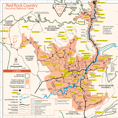 Map Of Arizona Including Sedona.Attractions Of Sedona Arizona