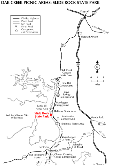 Map To Slide Rock